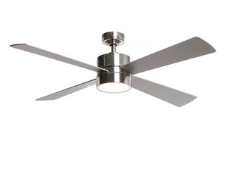 52  Brushed Chrome 4 Blade lED Ceiling Fan