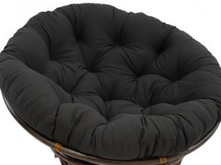 Black Blazing Needles 52 inch Microsuede Papasan  cushion only