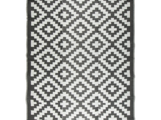 Courtyard Collection Reversible Indoor Outdoor Mat Area Rug w  Bag