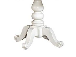 liberty Furniture Industries Summer House Pedestal Table Base  no top  W42 x D54  White