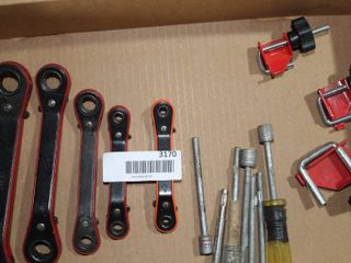 ratchet wrenches  heater hose clamp offs  nut drivers