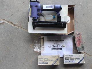 air brad nailer and brads