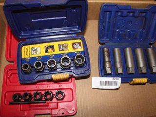 3 sets damaged bolt nut removal sockets