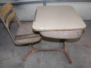 Old school desk