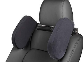 Car Seat Headrest Pillow Memory Foam Soft Velvet Neck Pillow for Kids and Adults Adjustable on Both Sides   Sleep Better in The Car  Black