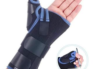 VElPEAU Wrist Brace with Thumb Spica Splint for De Quervain s Tenosynovitis  Carpal Tunnel Pain  Stabilizer for Tendonitis  Arthritis  Sprains   Fracture Forearm Support Cast  Regular  Right Hand l