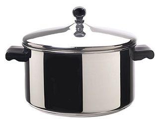 Farberware Classic Stainless Steel 6 Quart Stockpot with lid  Stainless Steel Pot with lid  Silver