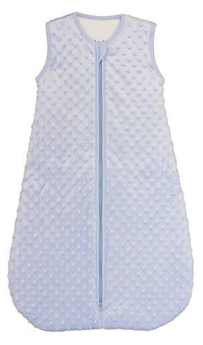 BABYINABAG Baby Sleeping Bag and Sack  Minky Dot  Quilted Winter Model  2 5 Tog Very Warm for Infants and Toddlers