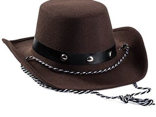 Funny Party Hats Baby Cowboy Hat   Cowboy Hat Toddler a Studded Cowboy Hat   Brown Felt Cowboy Hat   Cowboy Accessories