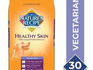 NATURE S RECIPE 799830 Healthy Skin Vegetarian Dry Dog Food  30 Pound