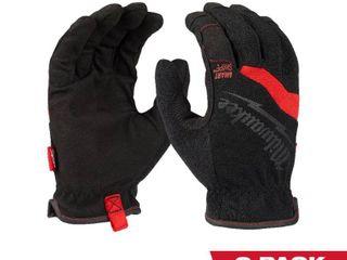 Milwaukee FreeFlex X large Work Gloves  2 Pack  Black