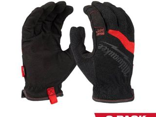 Milwaukee FreeFlex large Work Gloves  2 Pack  Black