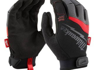 2 pair Milwaukee Performance Spandex Synthetic leather Work Gloves Black Red Xl 1 pair