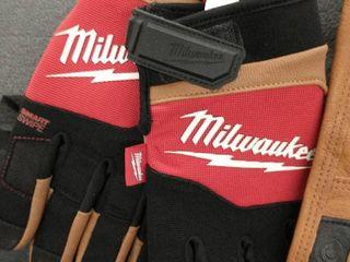 2 pair Milwaukee Medium Gloves  Brown