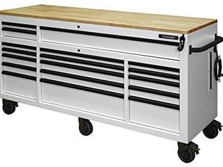 Husky 72  18 Drawer Workbench with Adjustable Height In White Retail   1 899 99