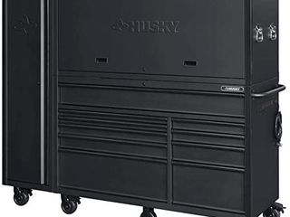 Husky 80 in  10 Drawer Tool Chest and Cabinet Combo  Matte Black  3 Piece  Retail   1 800 97
