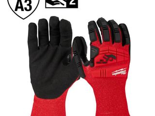 Milwaukee Medium Red Nitrile Impact level 3 Cut Resistant Dipped Work Gloves