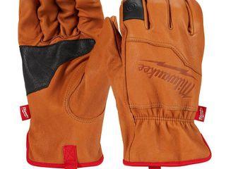 2 pair Milwaukee large Goatskin leather Gloves  Brown