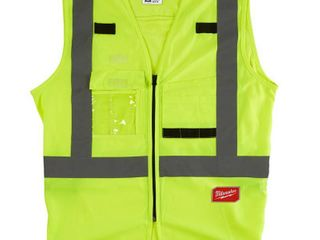 4 vest  Milwaukee large X large Yellow Class 4 High Visibility Safety Vest with 10 Pockets  2 Pack