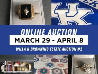 Willa H Browning Estate Auction #2 featuring Jewelry and Crafts