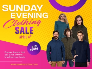 SUNDAY EVENING CLOTHING SALE APRIL 4TH