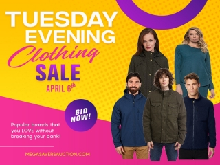 TUESDAY EVENING CLOTHING SALE APRIL 6TH