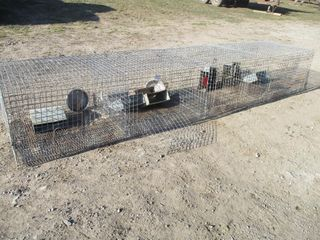 ROW OF 4 WIRE CAGES