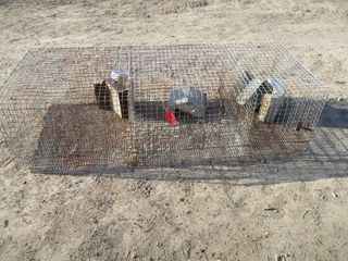 ROW OF 3 WIRE CAGES