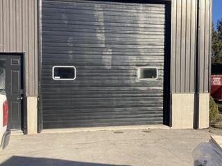 BlACK ROll UP GARAGE DOOR