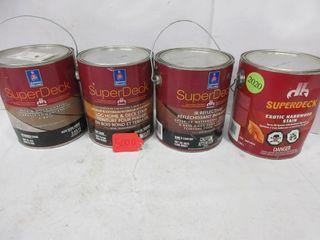 4 CANS EXTERIOR DECK WOOD