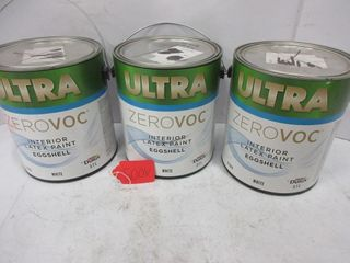 3 CANS lATEX PAINT