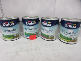 4 CANS lATEX PAINT   lIFEMASTER