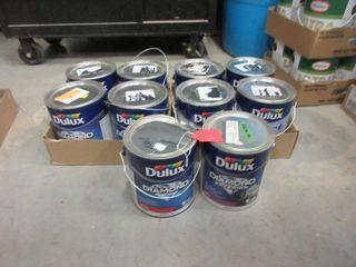 10 CANS PAINT   DUlUX