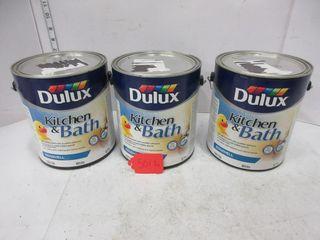 3 CANS KITCHEN   BATH PAINT   DElUX