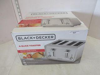 4 SlICE TOASTER   BlACK   DECKER