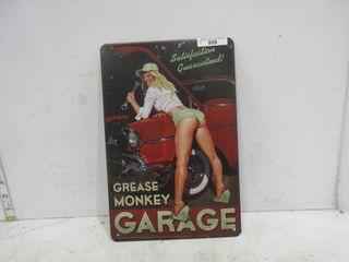 SIGN  GREASE MONKEY GARAGE