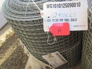 2 ROllS GAlVINIZED WIRE  1X1 12 5G 9W 100l
