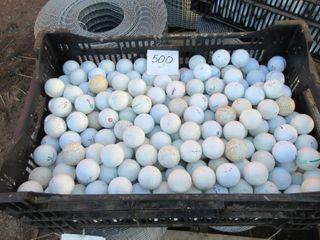 CRATE OF 500 GOlF BAllS