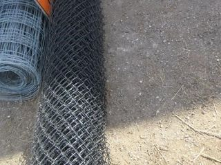 ROll CHAIN lINK FENCE   10  BlACK