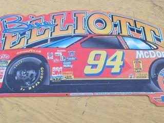 SIGN  BIll EllIOTT RACE CAR