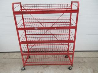 SHElVING UNIT   RED