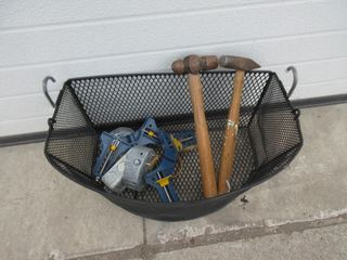 BASKET W  CONTENTS   HAMMERS  MISC
