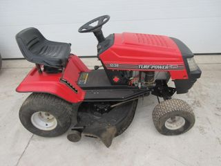 RIDING lAWN MOWER   TURF POWER  RED