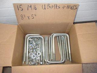 M16 UBOlTS   NUTS   8  X 5   15