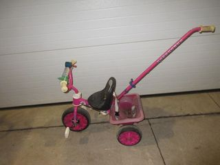 CHIlDS TRICYClE W  PUSH HANDlE   PINK