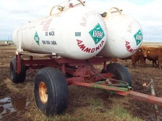 2  1000 gal Anhydrous tanks  on trailer