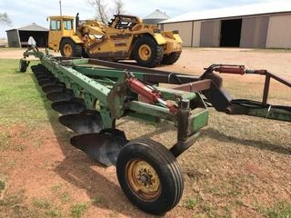 John Deere 12 bottom mold board plow