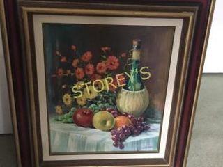 Framed Fruit Oil Painting   21 x 24