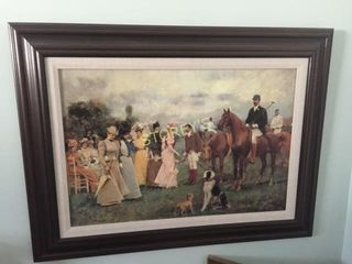 Framed Polo Picture   39 x 30