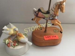 Carousel Horse   Music Birds